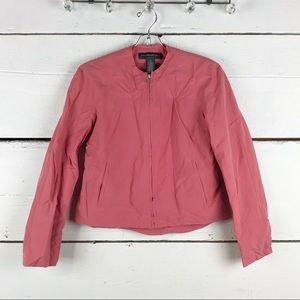 Banana republic jacket pink crop cropped